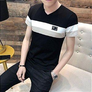 Camiseta Gola V Slim Fit
