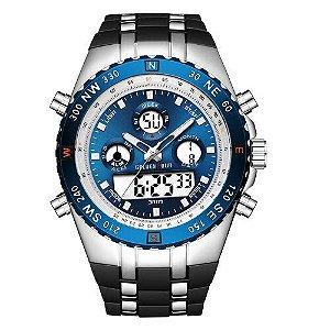 Relógio Masculino Digital Golden Hour