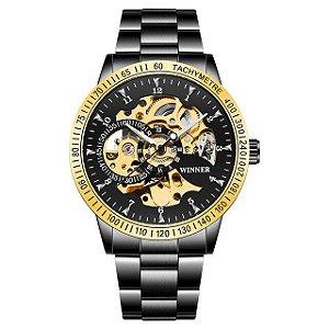 Relógio Masculino Automático Winner Tachymetre