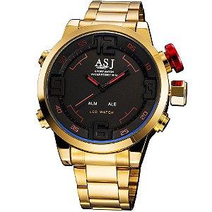 Relógio ASJ Army LED