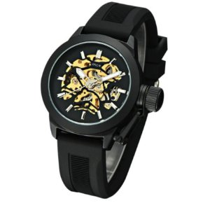 Relógio Masculino Automático com Pulseira em Silicone - MCE