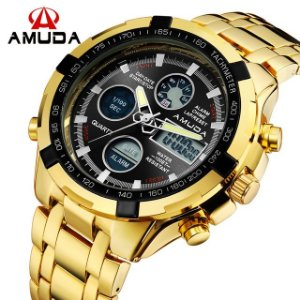 Relógio Amuda Gold Digital