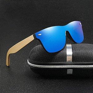 Óculos de Sol Polarizado com Armação em Madeira Ecológica