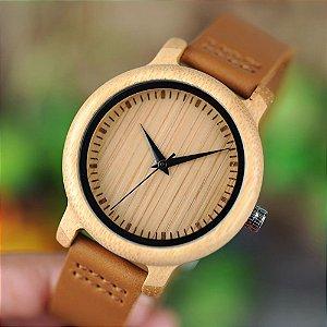 Relógio Unissex Feito em Bambu - Bobo Bird - Outlet