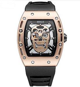 Relógio Masculino com Pulseira em Silicone Baogela Skull