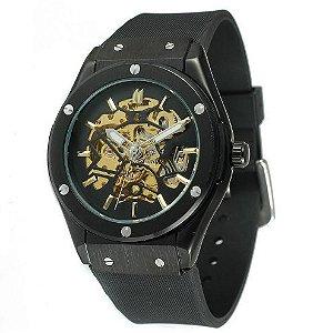 Relógio Automático com Pulseira em Silicone Forsining Luxo