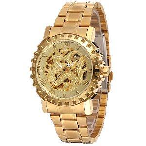 Relógio Dourado Automático Winner