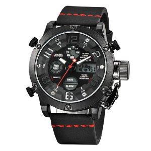 Relógio Masculino Digital com Pulseira em Couro Army