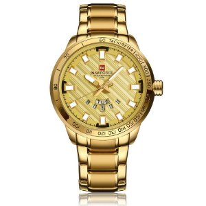Relógio Masculino Dourado Naviforce