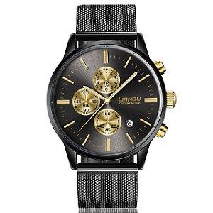 0520b5409c6 Relógio Blindado NIBOSI Inox Funcional - Dali Relógios