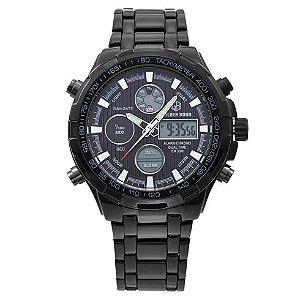 Relógio Digital Golden Hour Black