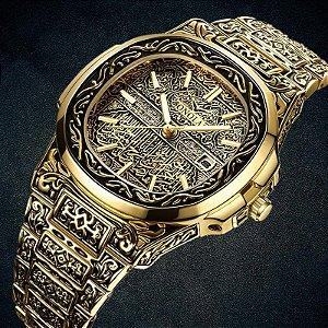 Relógio Masculino Onola Retro Carving