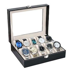 Maleta Estojo Porta Relógios - Caixa para 10 relógios