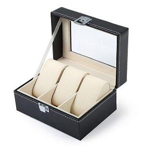 Maleta Estojo Porta Relógios - Caixa para 3 relógios