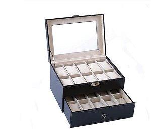 Maleta Estojo Porta Relógios - Caixa para 20 relógios