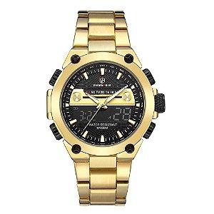 Relógio Masculino Digital Golden Hour Tycoon