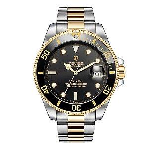 Relógio Masculino Automático Tevise Submariner - Golden