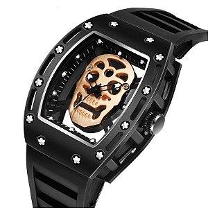 Relógio Masculino Caveira Kimdsum
