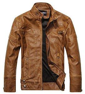 Jaqueta de Couro Masculina - 3 cores