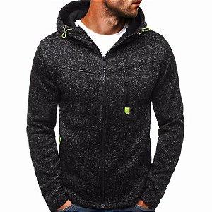 Jaqueta de Moletom com Capuz Style - 2 cores