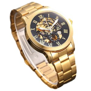 Relógio Automático Masculino Gold Luxury