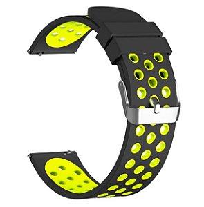 Pulseira em Silicone Para Relógios e Smartwatches - 20mm de largura