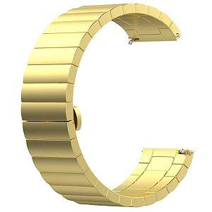 Pulseira em Aço Inox Para Relógios e Smartwatches - 20mm de largura