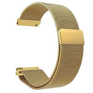 Pulseira em Aço inox Para Smartwatch Fit Pró