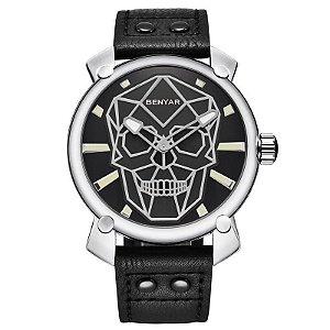 Relógio Masculino Benyar Skull Luxury