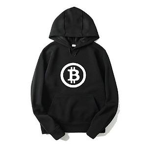 Blusa Moletom Bitcoin Logo