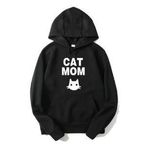 Blusa Moletom Cat mom ( Mãe de Gato )