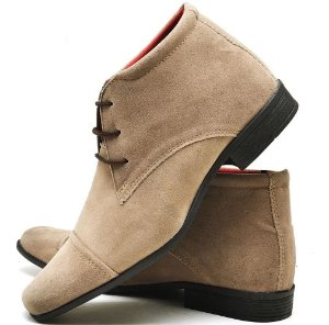 Sapato Cano Alto Masculino em Camurça