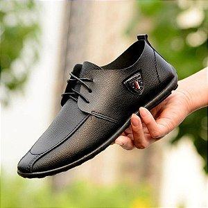 Sapato Masculino Mocassim em Couro Fashion Men Light