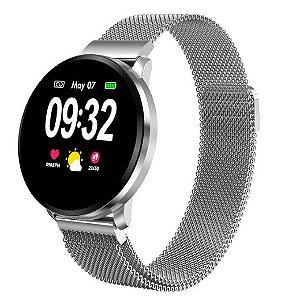 Relógio Eletrônico Smartwatch CF68 Aço Inox - 42mm