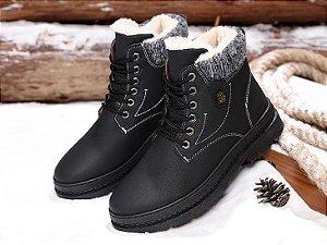 Bota Coturno Forrada Ankle Boots - Vesonal