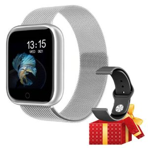 Relógio Eletrônico Smartwatch T80 + Brinde - Strava