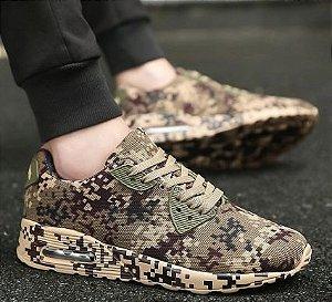 Tênis Militar Sneaker Camuflado