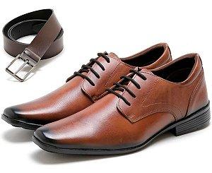 Sapato Social Masculino em Couro + Cinto Social Masculino