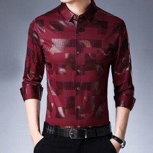 Camisa Social Masculina Slim Fit - Estampada