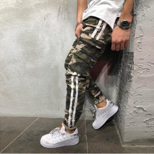 Calça Jeans Masculina Jogger Camuflada
