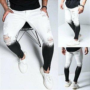 Calça Jeans Masculina Skinny com Elastano - Zíper na Barra