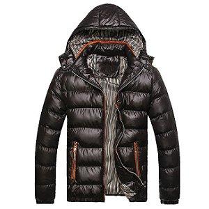 Jaqueta Casaco de Inverno Corta Vento com Capuz