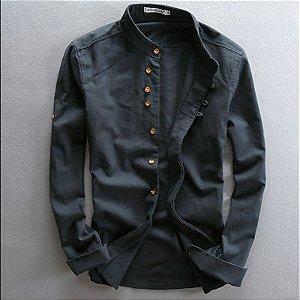 Camisa Masculina Slim Fit em Linho Premium Style