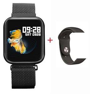 Relógio Eletrônico Smartwatch P80 - 42mm - Com 2 Pulseiras