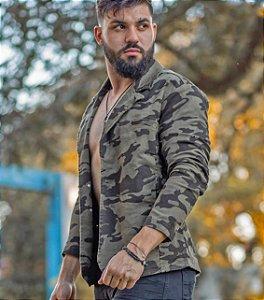 Blazer Jeans Masculino Slim Fit Camuflado