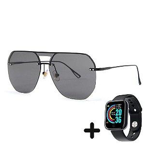 Óculos de Sol Moderno Minimalista + Smartwatch Grátis