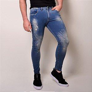 Calça Jeans Masculina Destroyed Skinny