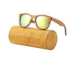 Óculos de Sol Feito em Bambu - Vintage - Outlet