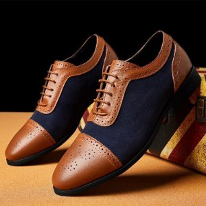 Sapato Masculino em Couro e Camurça Casual - Outlet