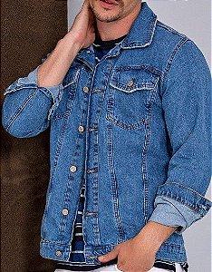 Jaqueta Jeans Masculina Azul